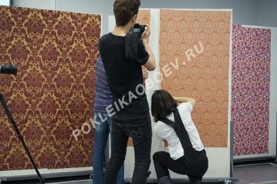 Подготовка текстильных полотен к нарезке.